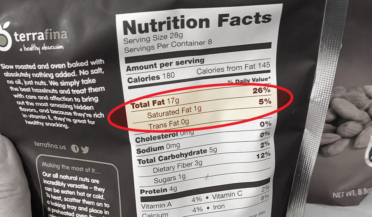 how to read a nutrition label for keto — fat count on nutrition label