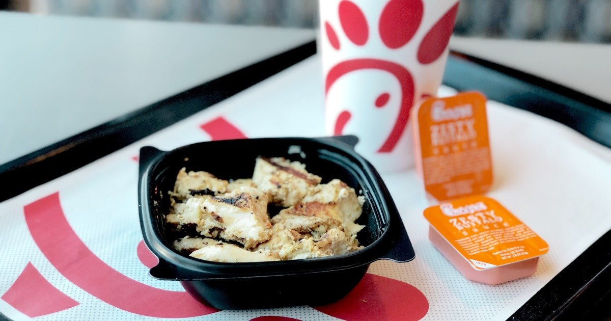 Get free chick-fil-a grilled chicken nuggets like these when you download the app