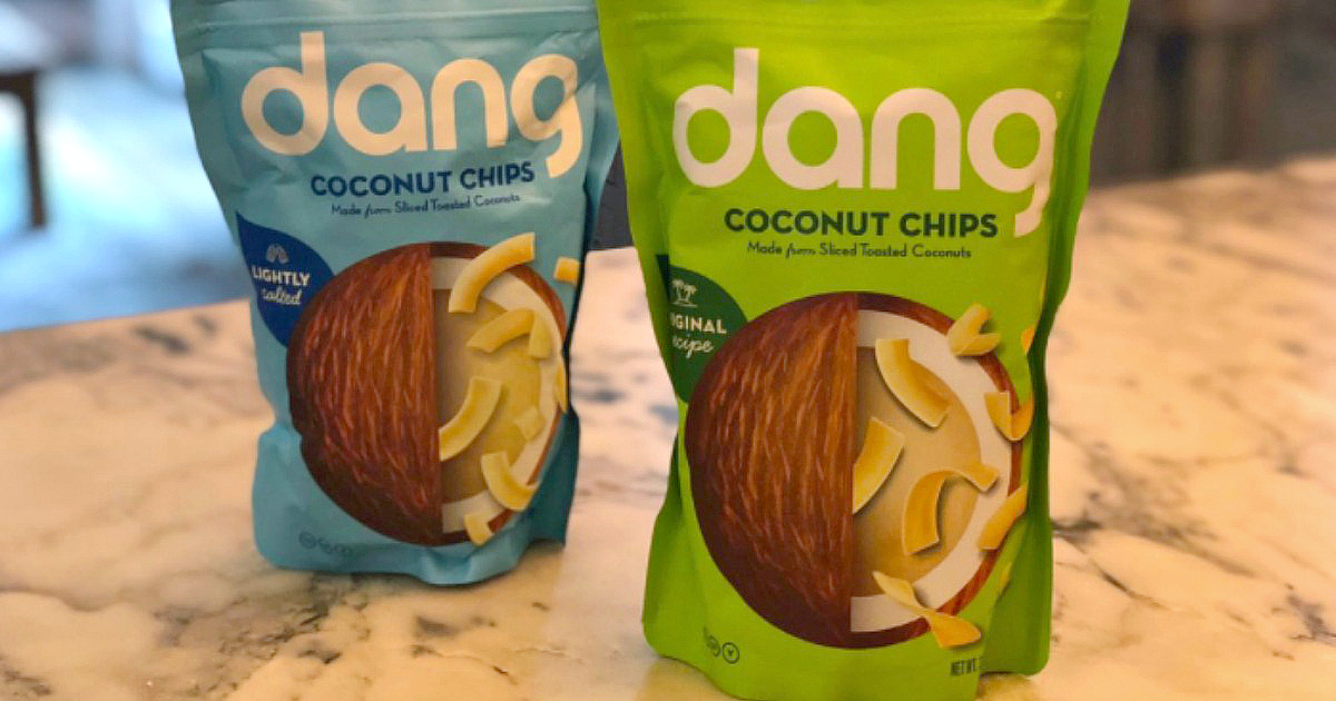 These bags of dang coconut chips are great for keto
