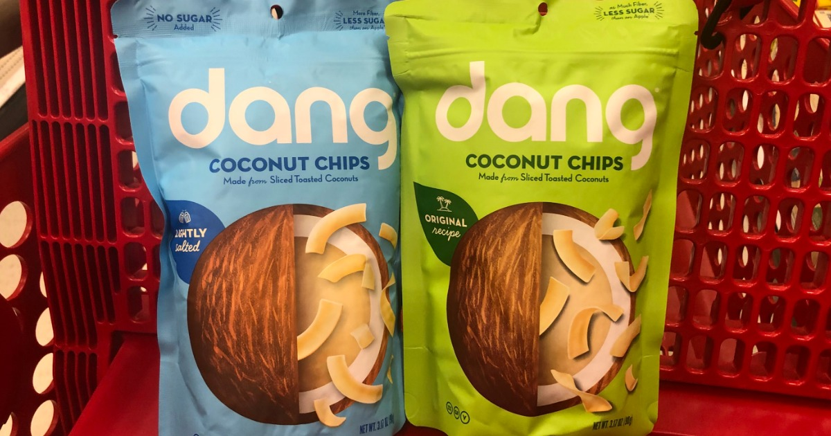 These bags of dang coconut chips available at stores like Target are great for keto