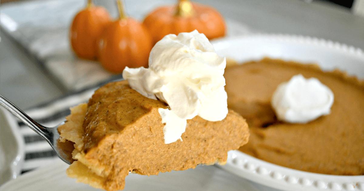 Bake this easy Keto Pumpkin Pie