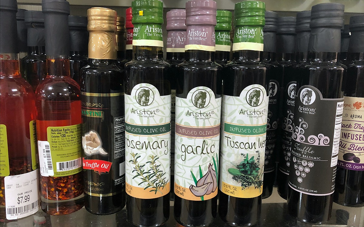 home goods keto foods include this assortment of infused olive oils