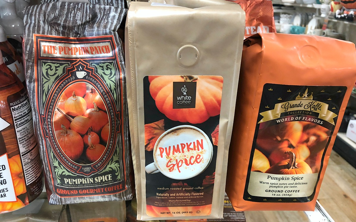 home goods keto foods include these pumpkin flavored coffee beans