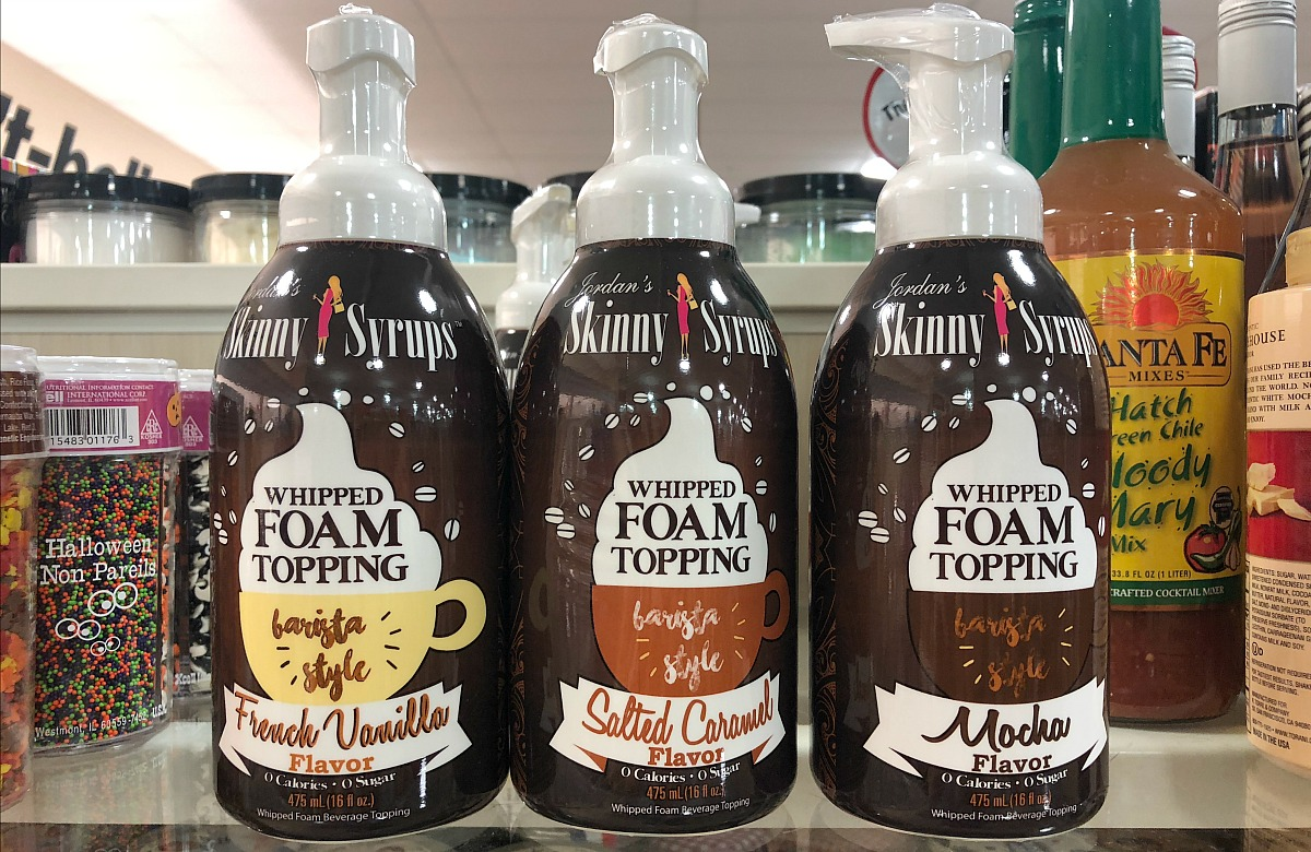 home goods keto foods include these jordan's skinny syrups whipped foam topping