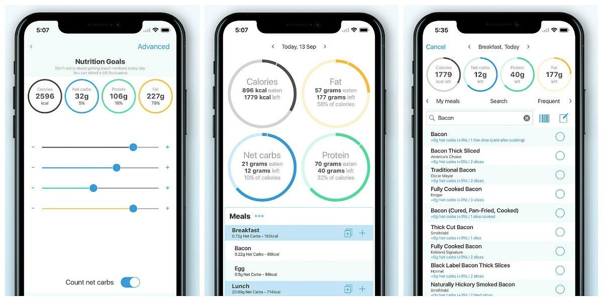 favorite keto smartphone apps — keto diet tracker screenshots