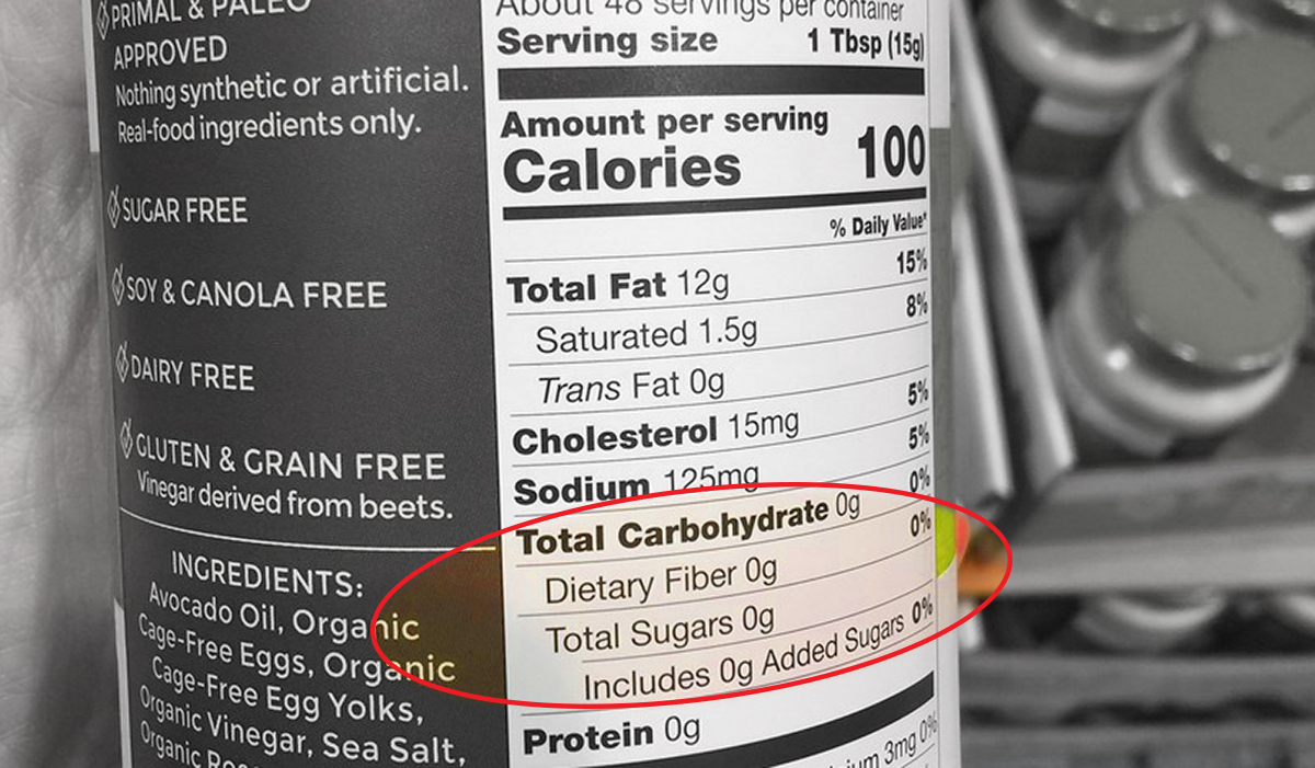 carbohydrate count on nutrition label for keto product