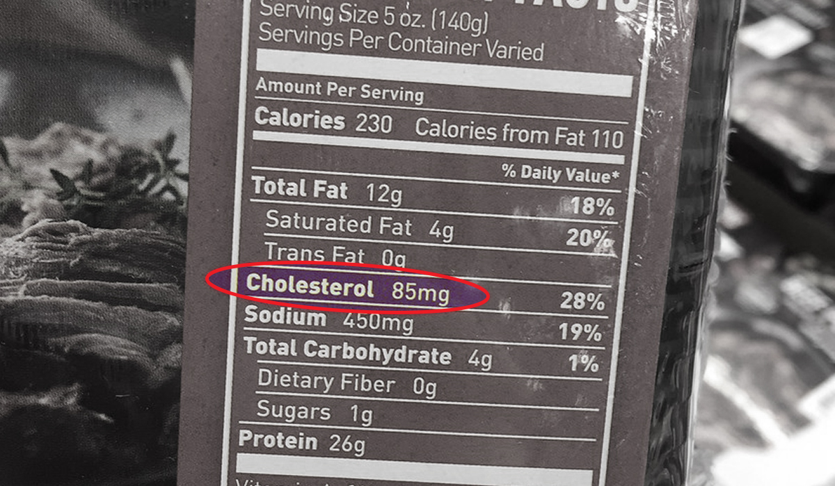 how to read a nutrition label for keto — cholesterol count on nutrition label