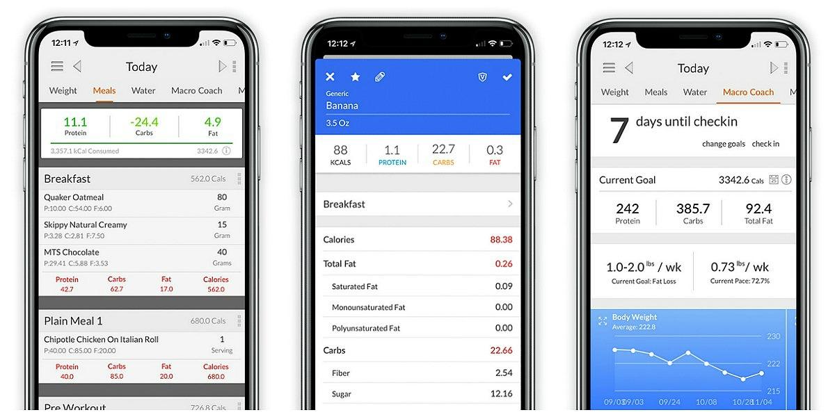 favorite keto smartphone apps — my macros+ screenshots
