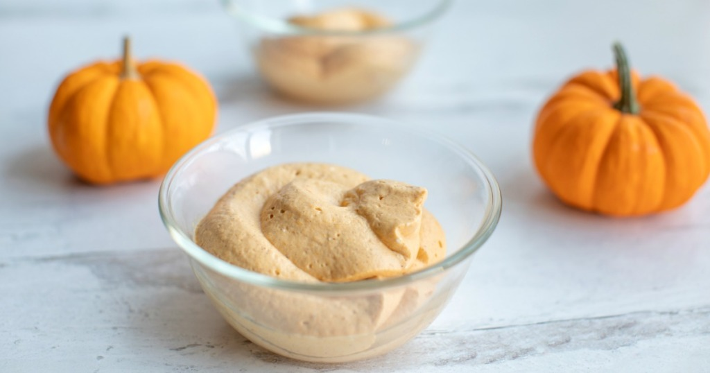 pumpkin mousse in a small dish