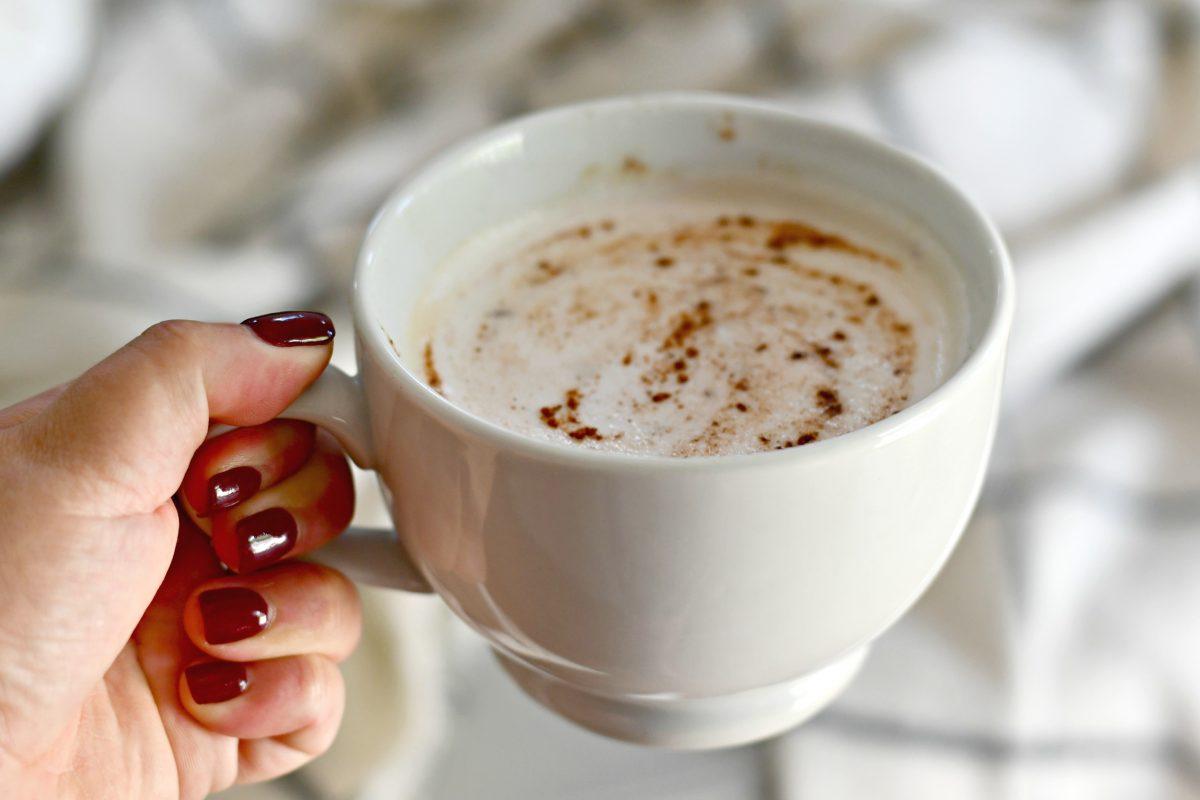 Homemade Starbucks Keto Chai Tea Latte – closeup in a mug