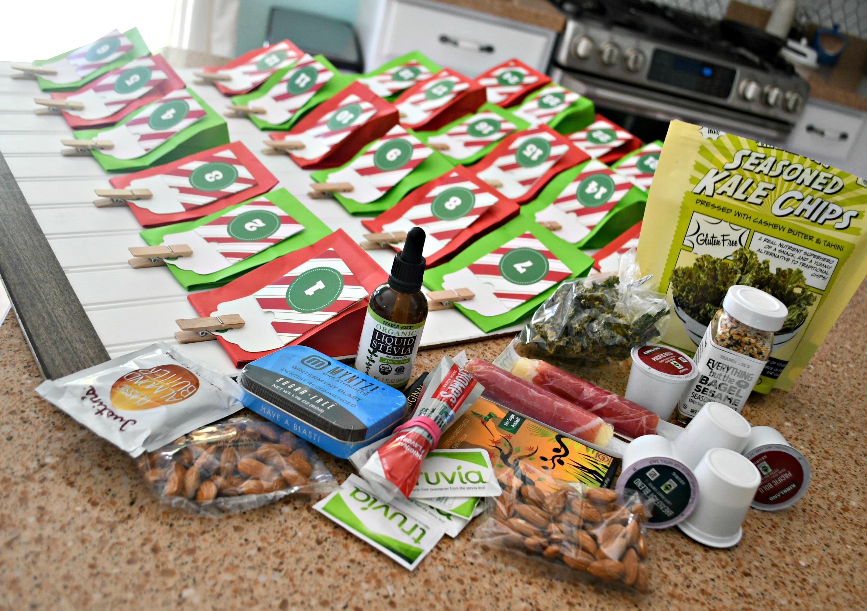 DIY Keto Advent Christmas Calendar – Ingredients to add