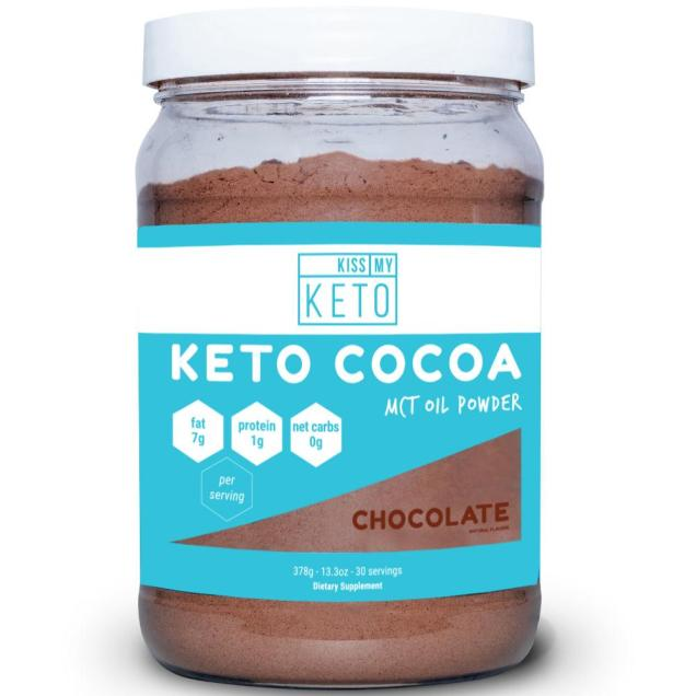 Kiss my Keto Cocoa Powder closeup of the package