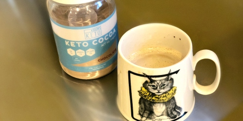 This Kiss My Keto Cocoa Powder is SO YUM in My Coffee!