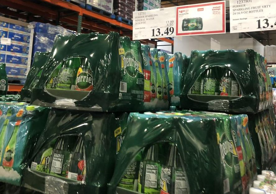 October 2018 keto Costco deals – Perrier Sparkling Water at Costco Hip2Keto