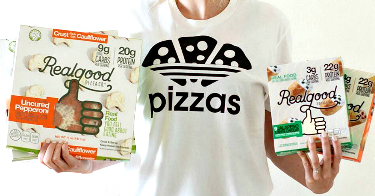 Realgood Foods pizza shirt promo
