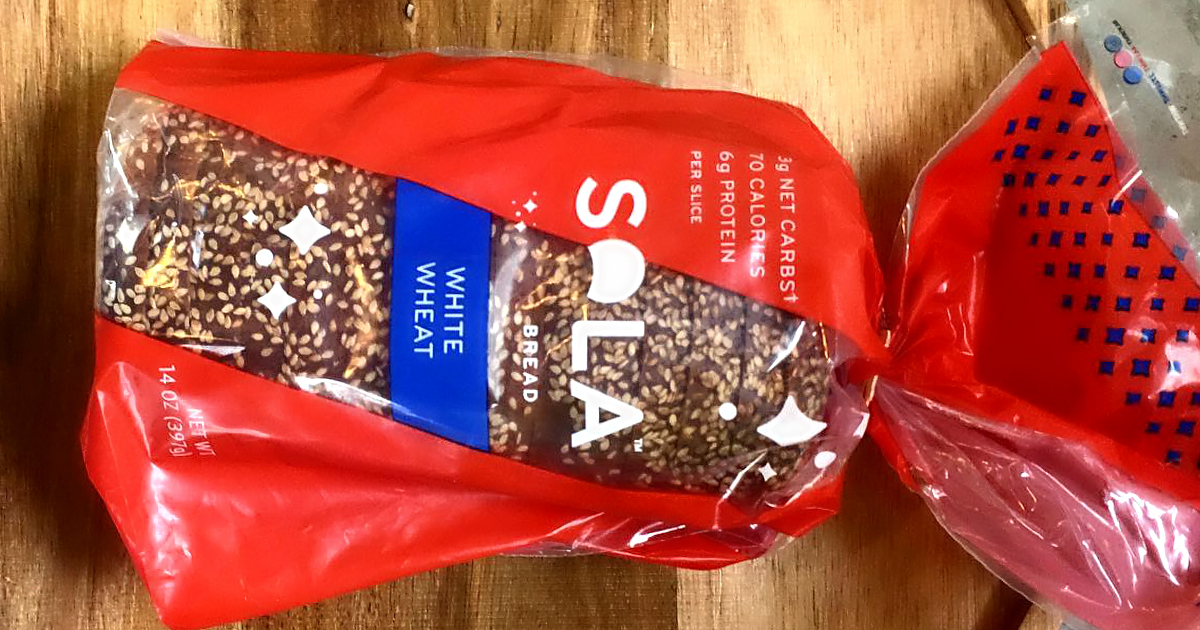 Buy this loaf of SOLA keto bread with a coupon from Hip2keto