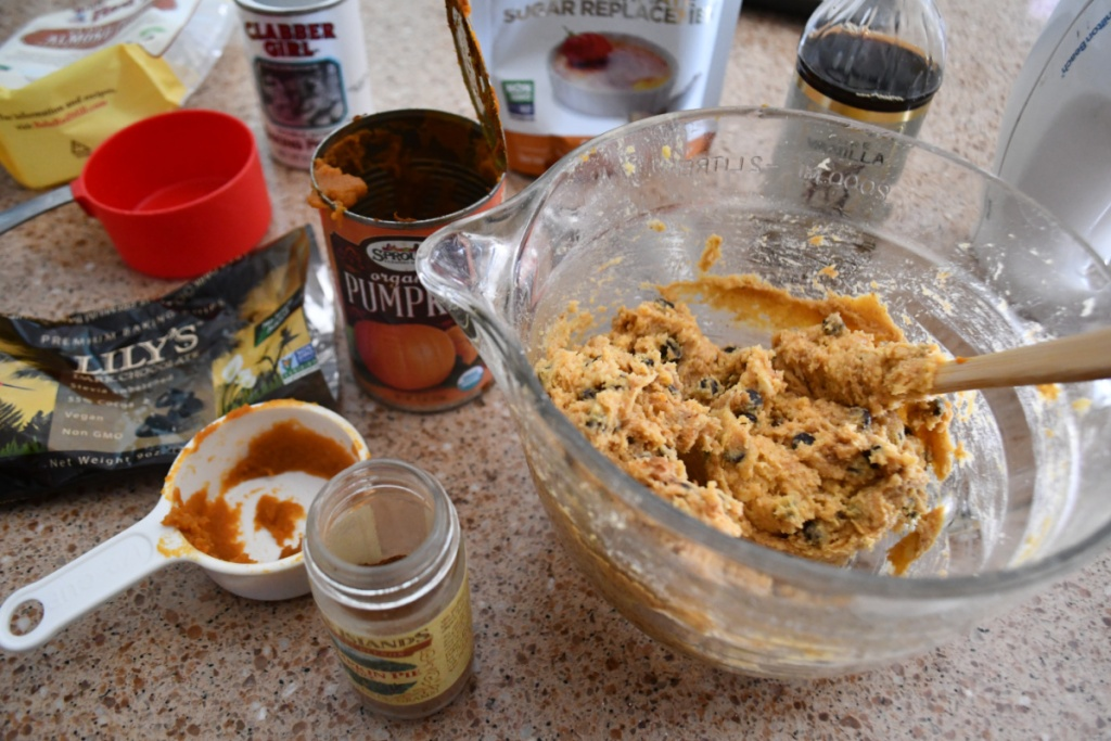 cookie dough and ingredients