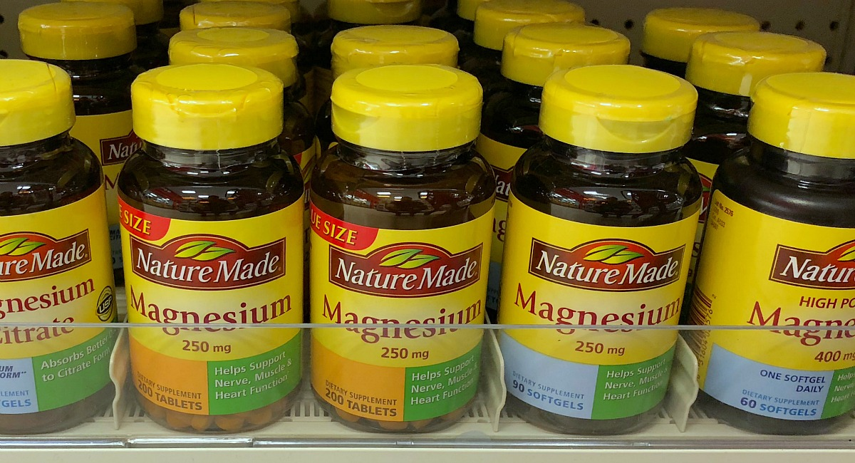 best keto diet vitamins and supplements — bottles of magnesium on a store shelf