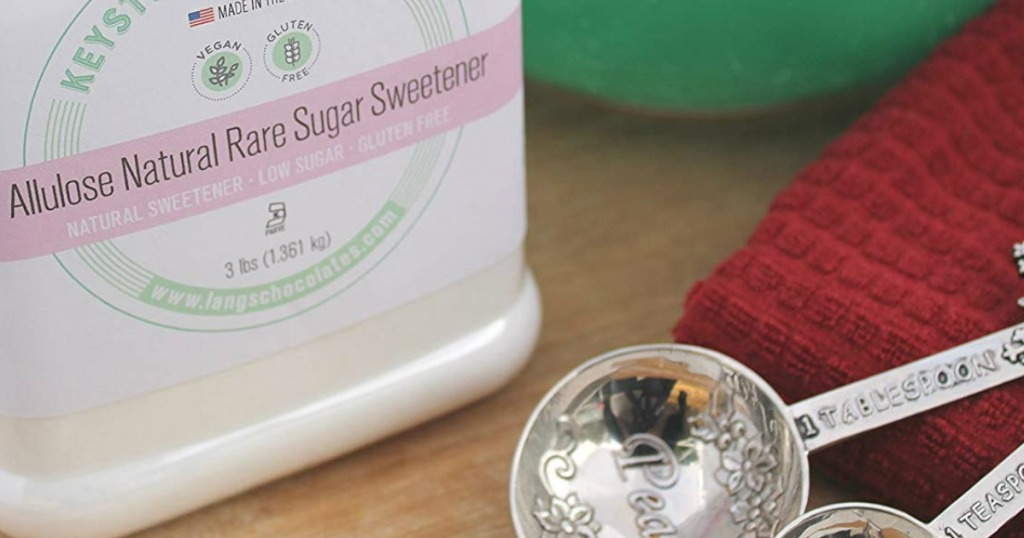 allulose sweetener with measuring spoon