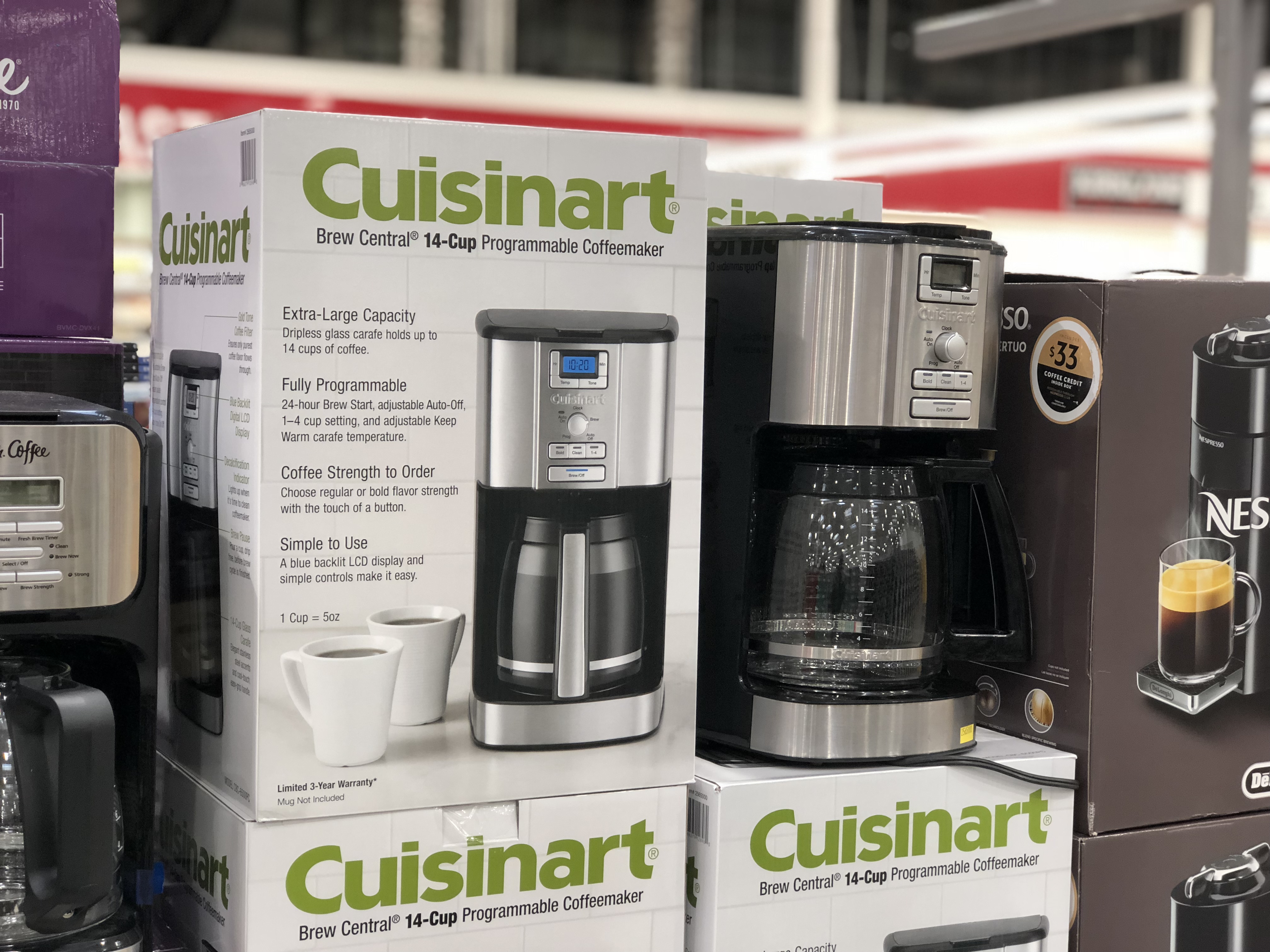 Cuisinart Brew Central coffeemaker at Costco
