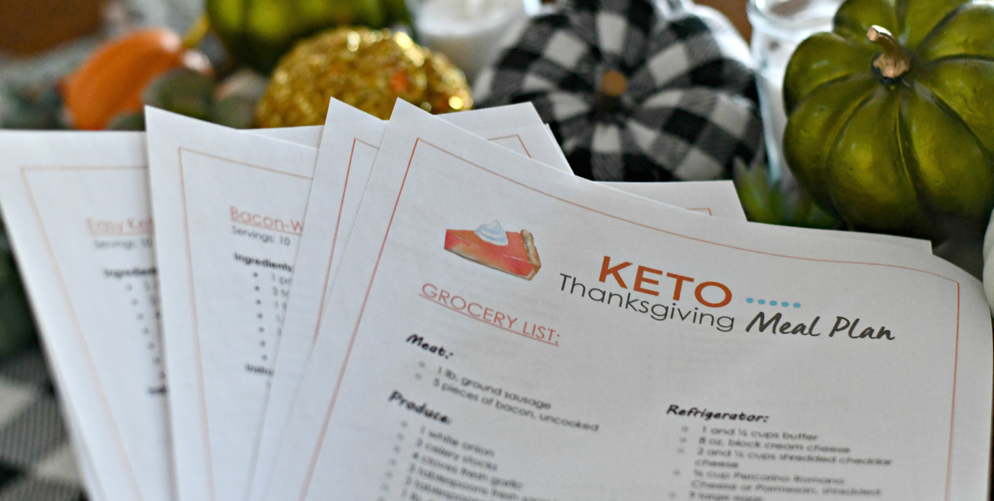 Free Printable Keto Thanksgiving Meal Plan and Grocery List