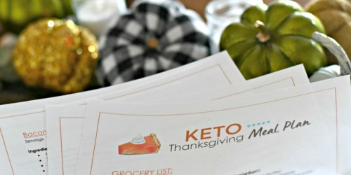 Free Printable Keto Thanksgiving Meal Plan and Grocery List (Including the Pumpkin Pie!)