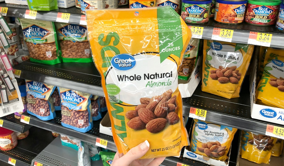 best deals keto staples — great value whole almonds at walmart