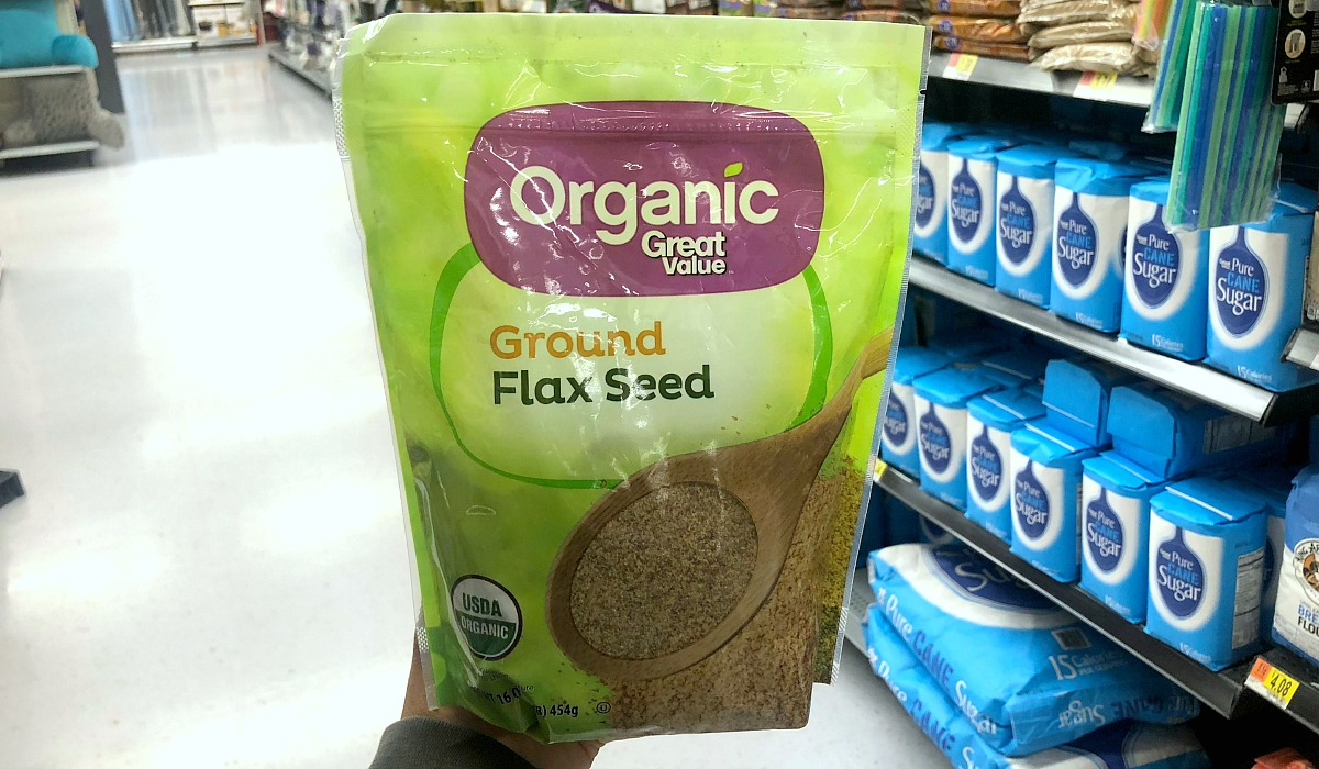 alternative flours — great value organic ground flax seed