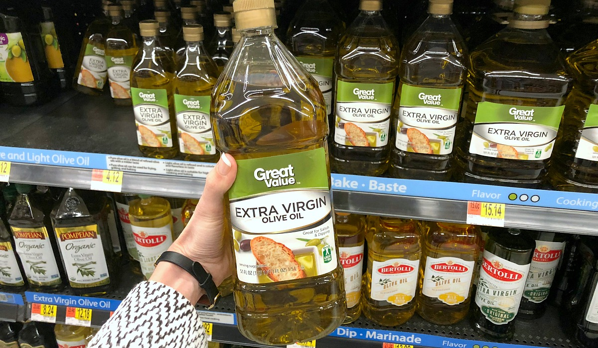 cheapest keto staples — great value olive oil at walmart