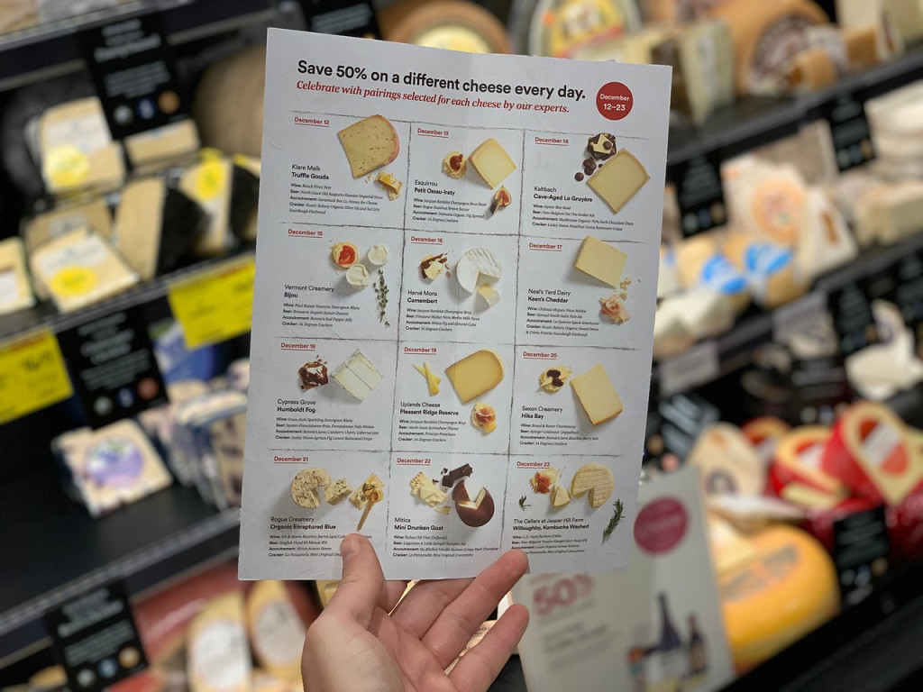 50 off cheese whole foods – 12 days of cheese at Whole Foods flyer