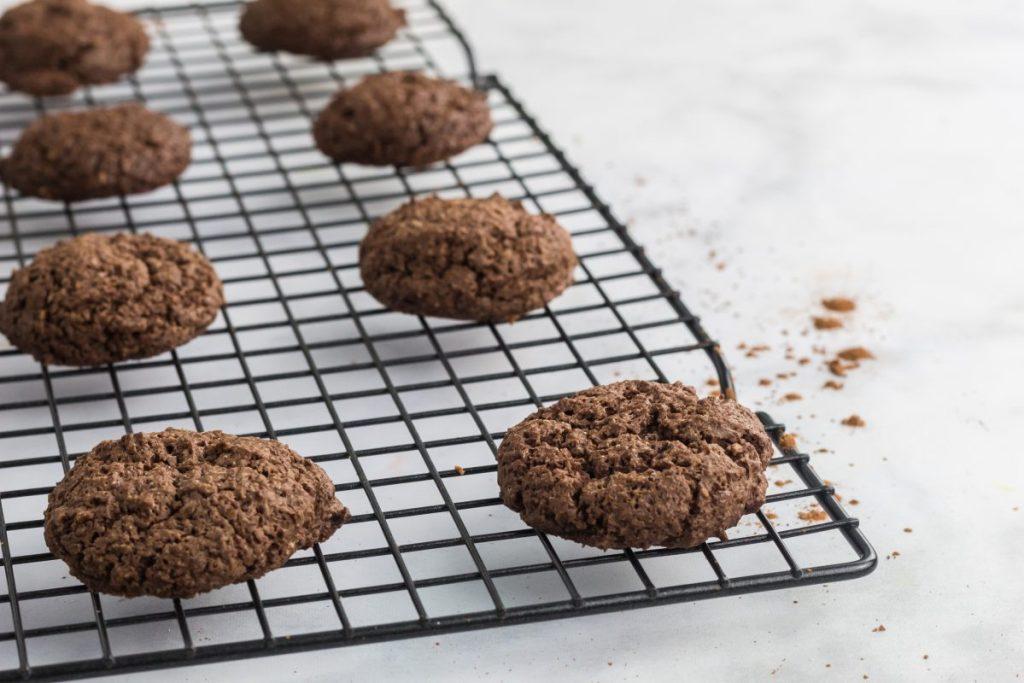cloud cookies on a cooking rack