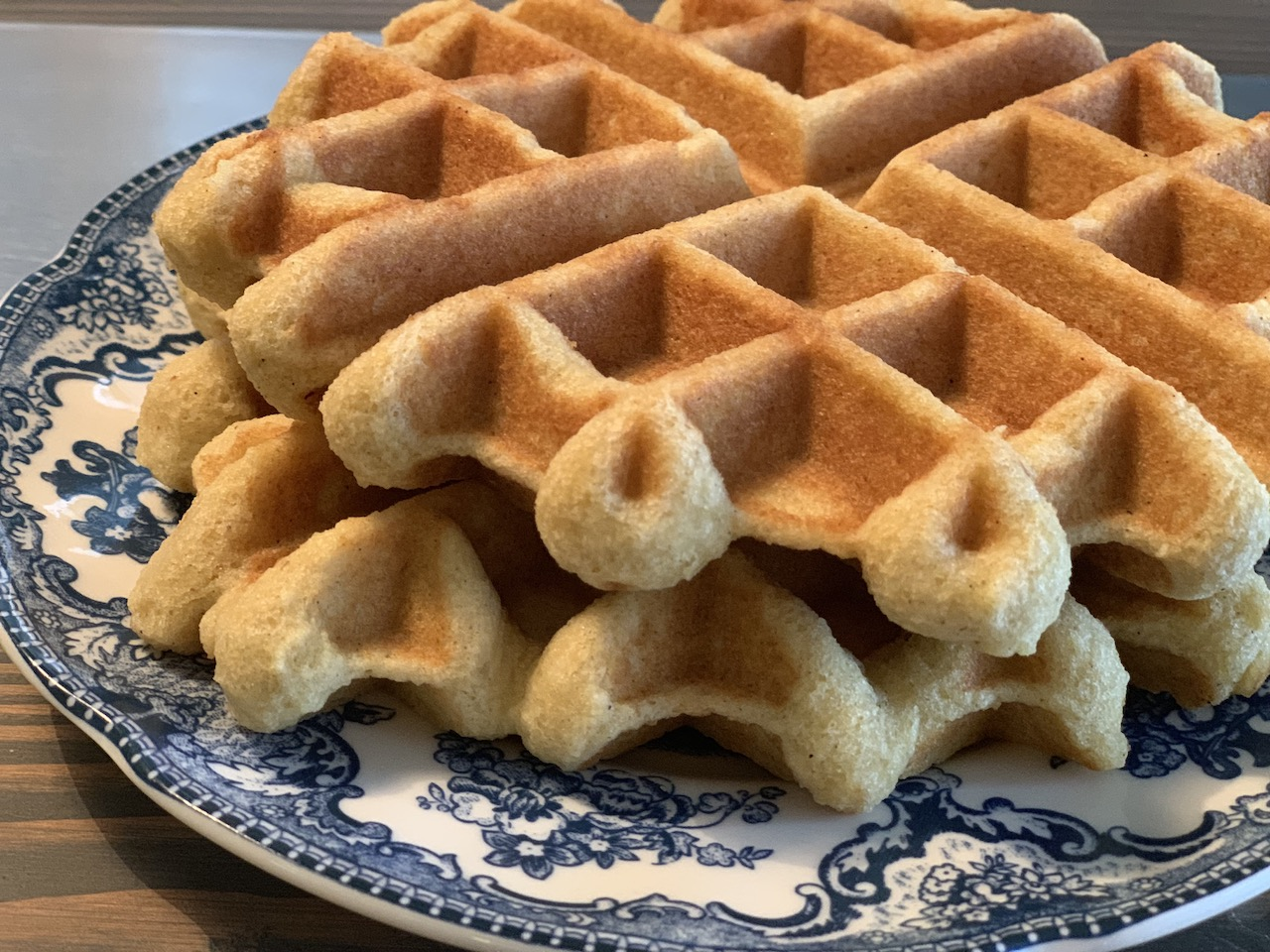 best delicious low-carb keto waffle recipe – stacked on a plate