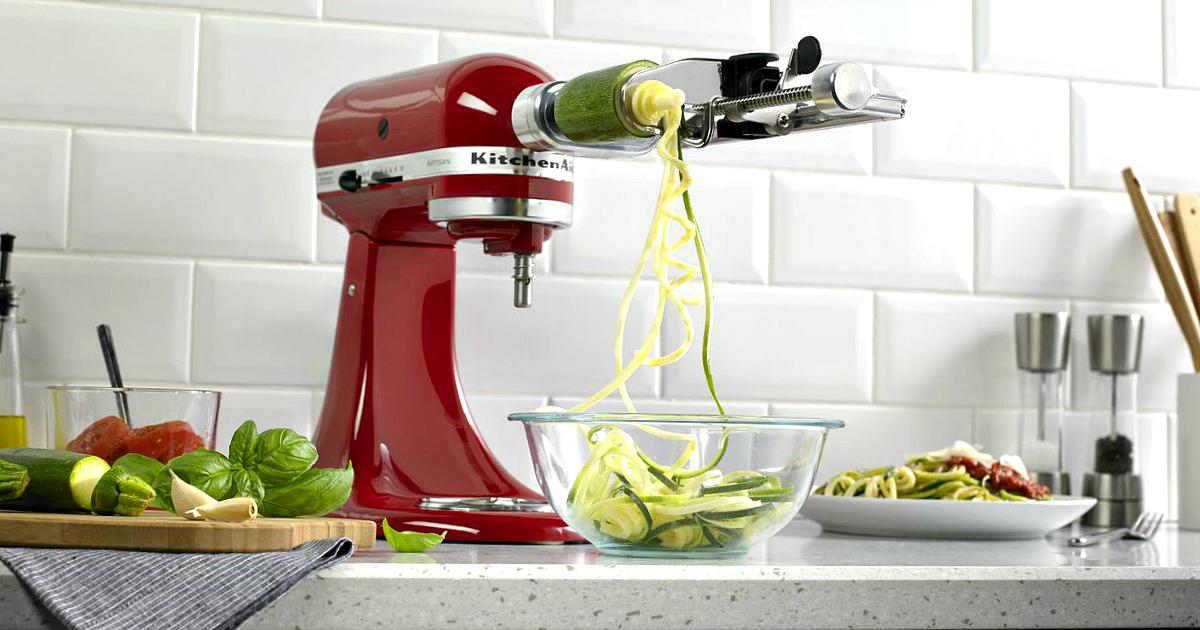 Kitchenaid spiralizer attachment deal – spiralizer making zucchini noodles