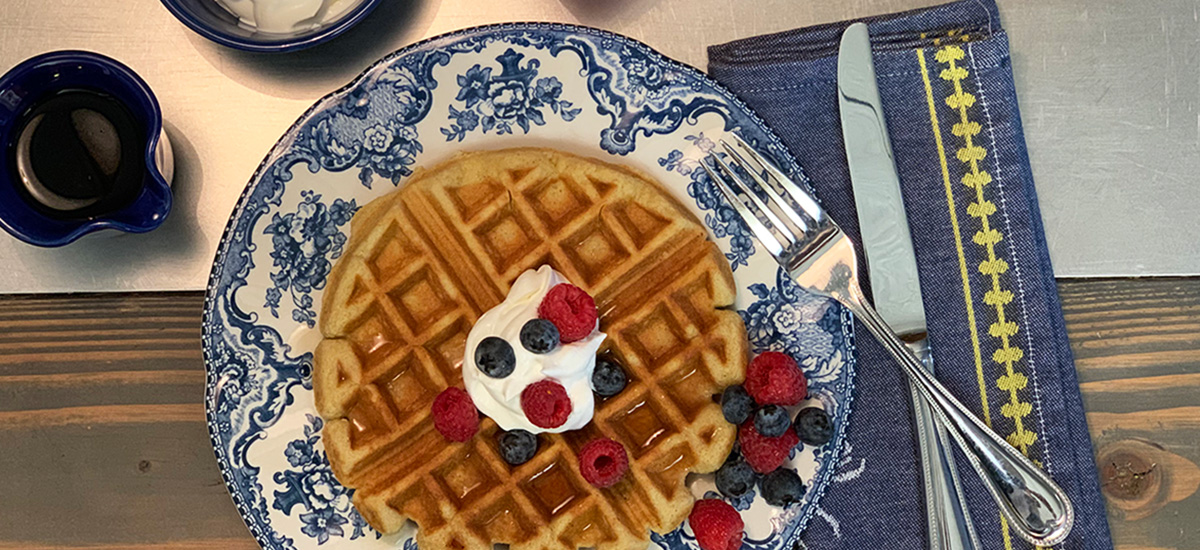 best delicious low-carb keto waffle recipe – plate from above