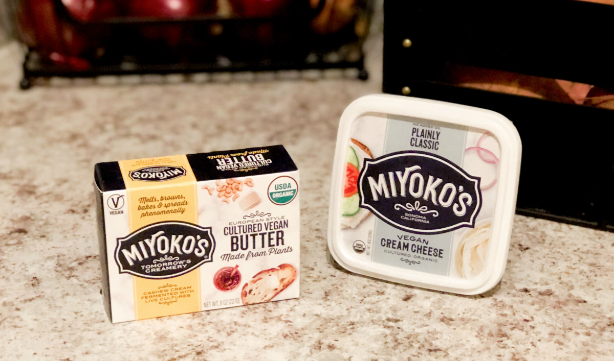 Miyoko's vegan butter and cream cheese