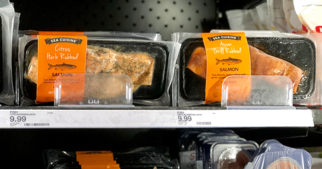 salmon deal target – in the refrigerated case
