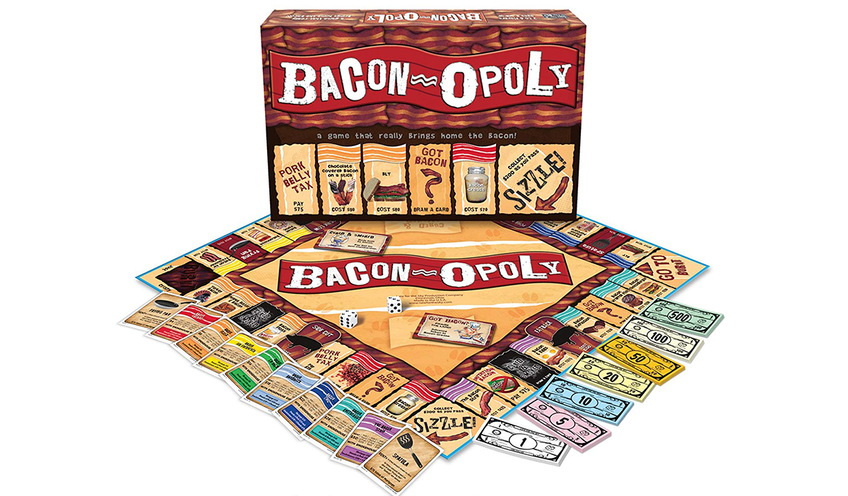 ultimate gift guide keto low-carb bacon — bacon-opoly