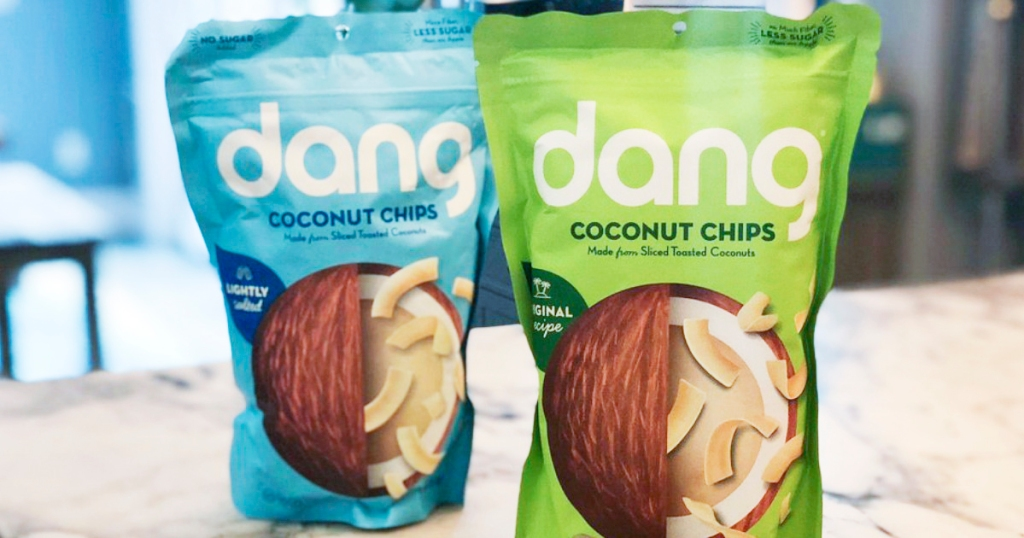 dang coconut chips bags