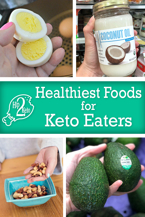 healthy foods for keto pinterest image