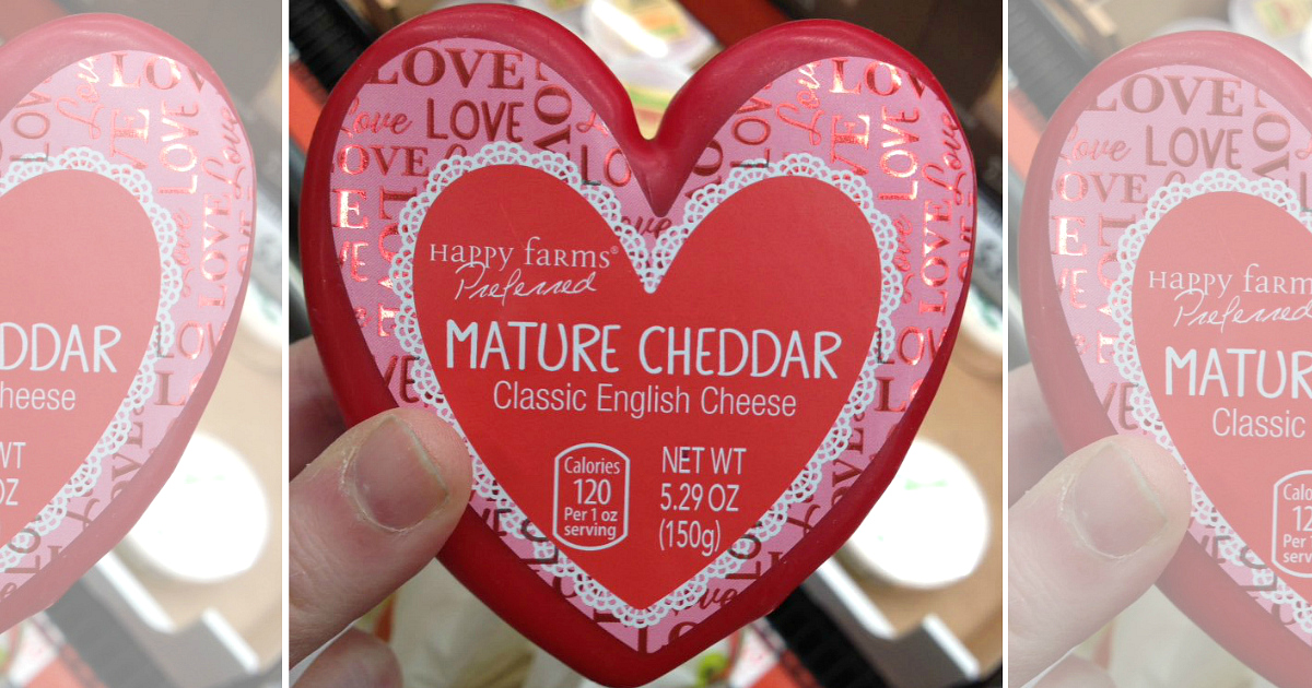 aldi heart-shaped cheese valentines