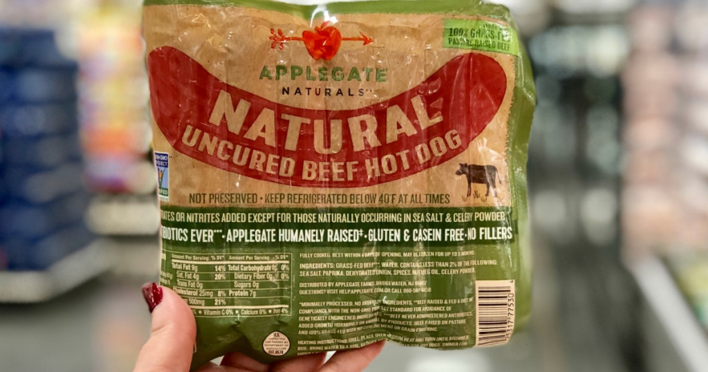 Applegate hot dogs at Target