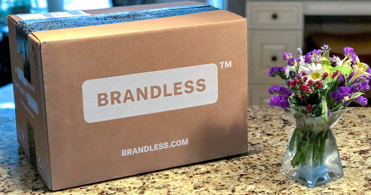 Brandless box on a counter