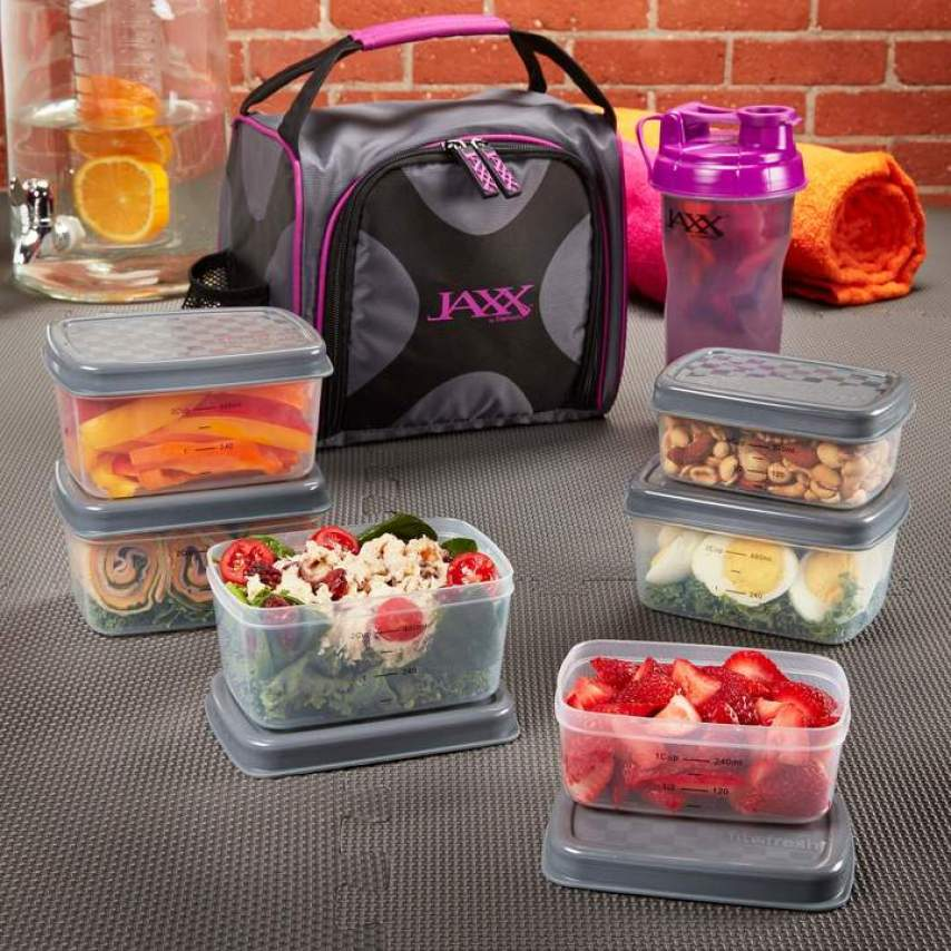 Jaxx Fit & Fresh bag and water bottle