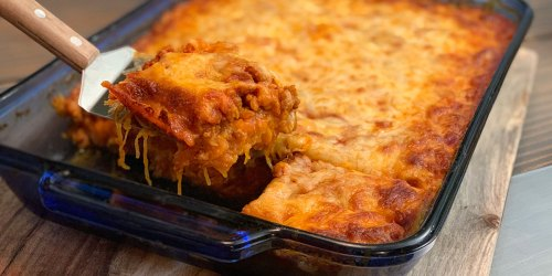 This Italian inspired Sausage & Spaghetti Squash Casserole is our new family favorite!