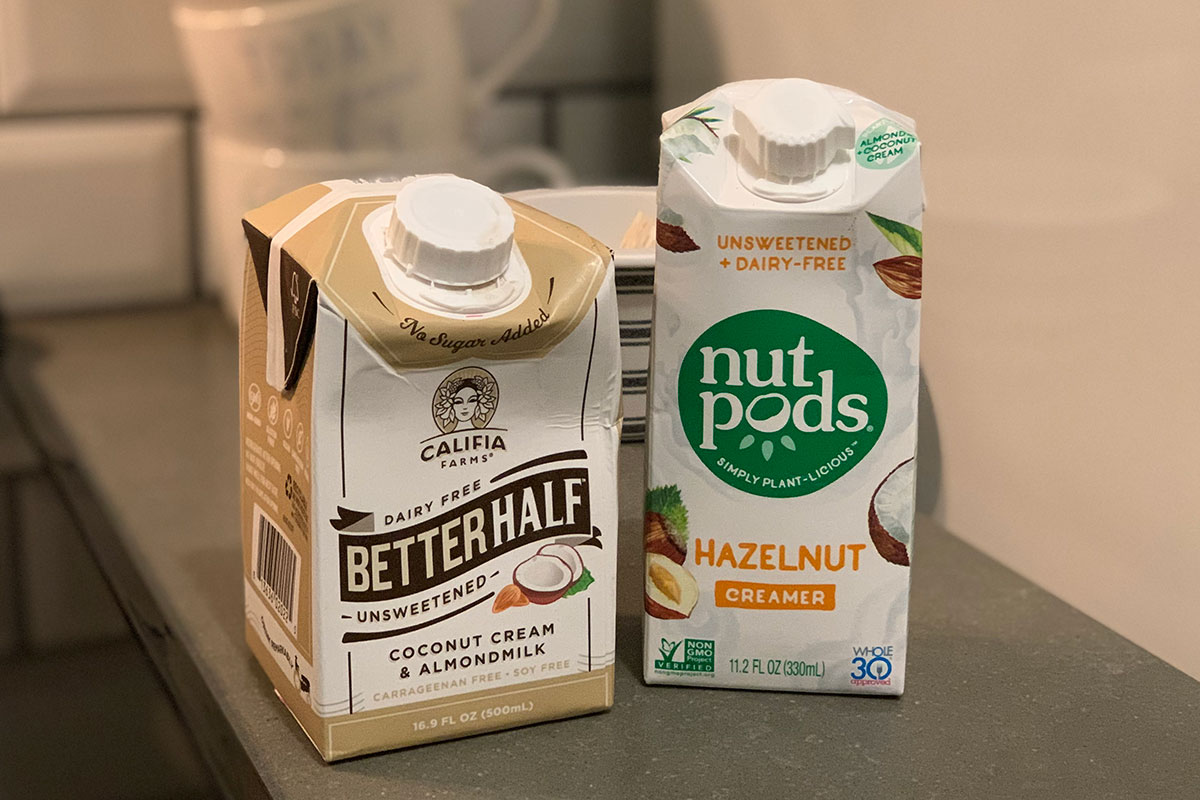 califia farms and nut pods products