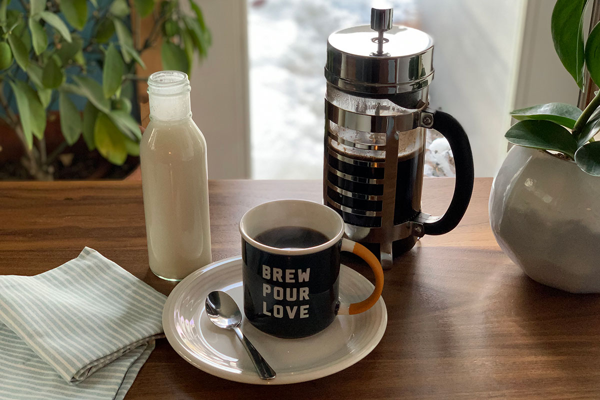 everything you need to make a cup of frothy keto coffee with keto coffee creamer