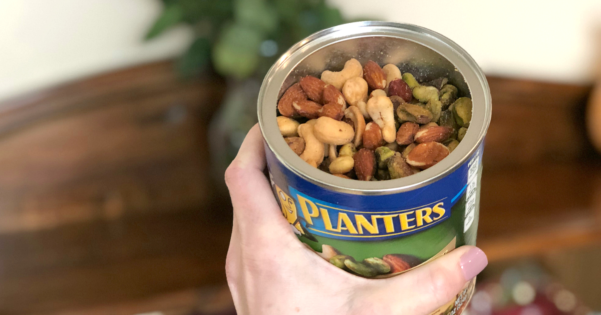 Planters Nuts in an open can