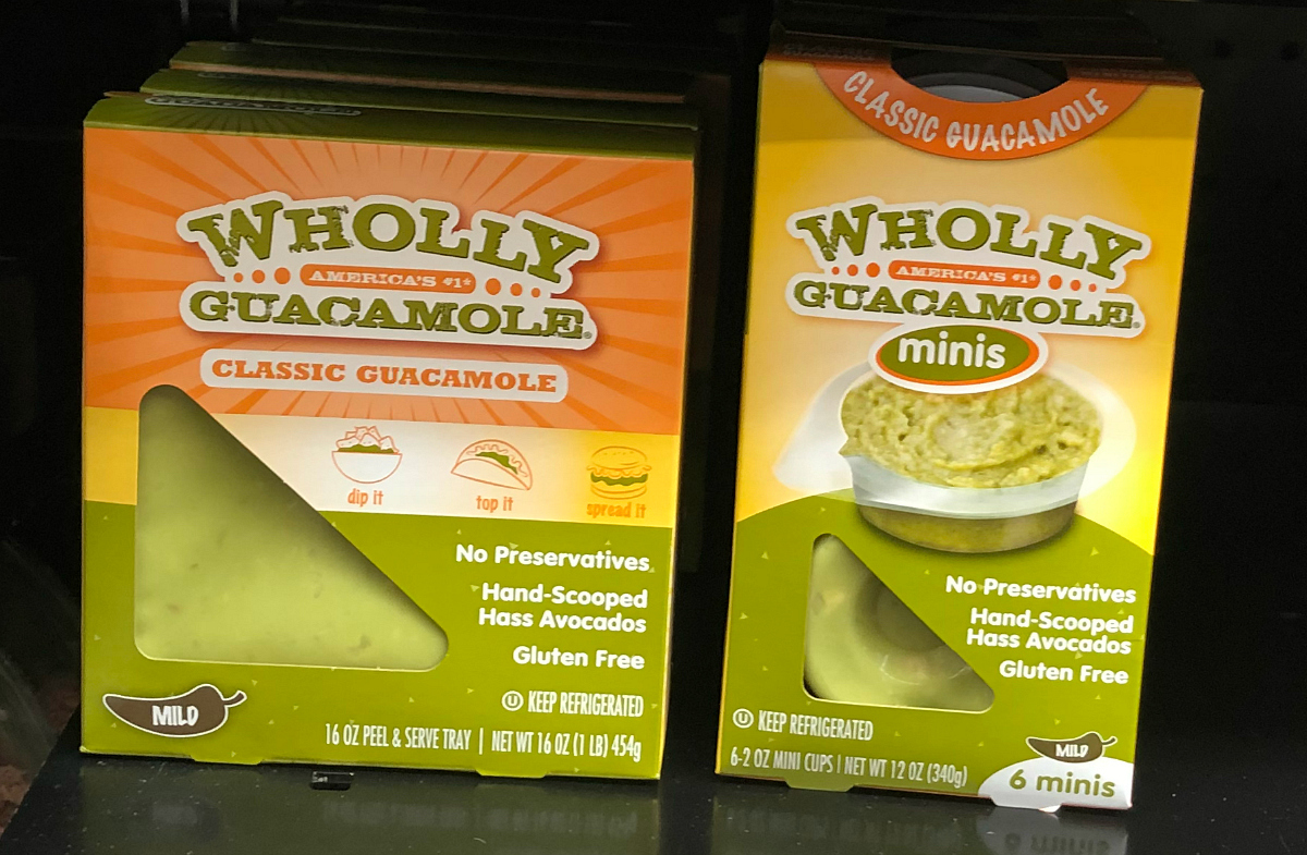 Wholly Guacamole on the store shelf