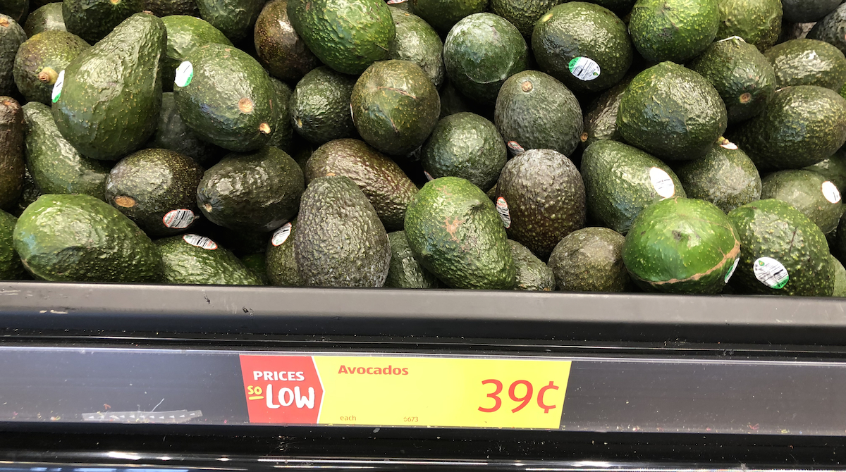 best budget-friendly keto snack foods at ALDI – avocados in produce section