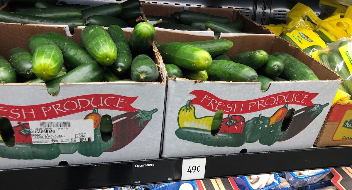 best budget-friendly keto snacks at ALDI – fresh produce large cucumbers